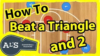 How To Beat A Triangle and 2 Zone Basketball Defense
