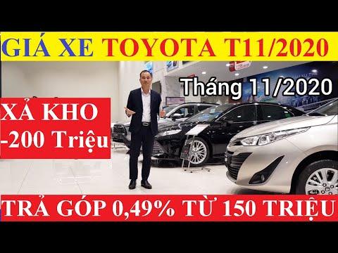 ✅Bảng Giá Xe Toyota Tháng 11/2020 Cập Nhật Khuyến Mại Mới Nhất Giảm Giá Gần 200 Triệu Trả Góp 0.49%