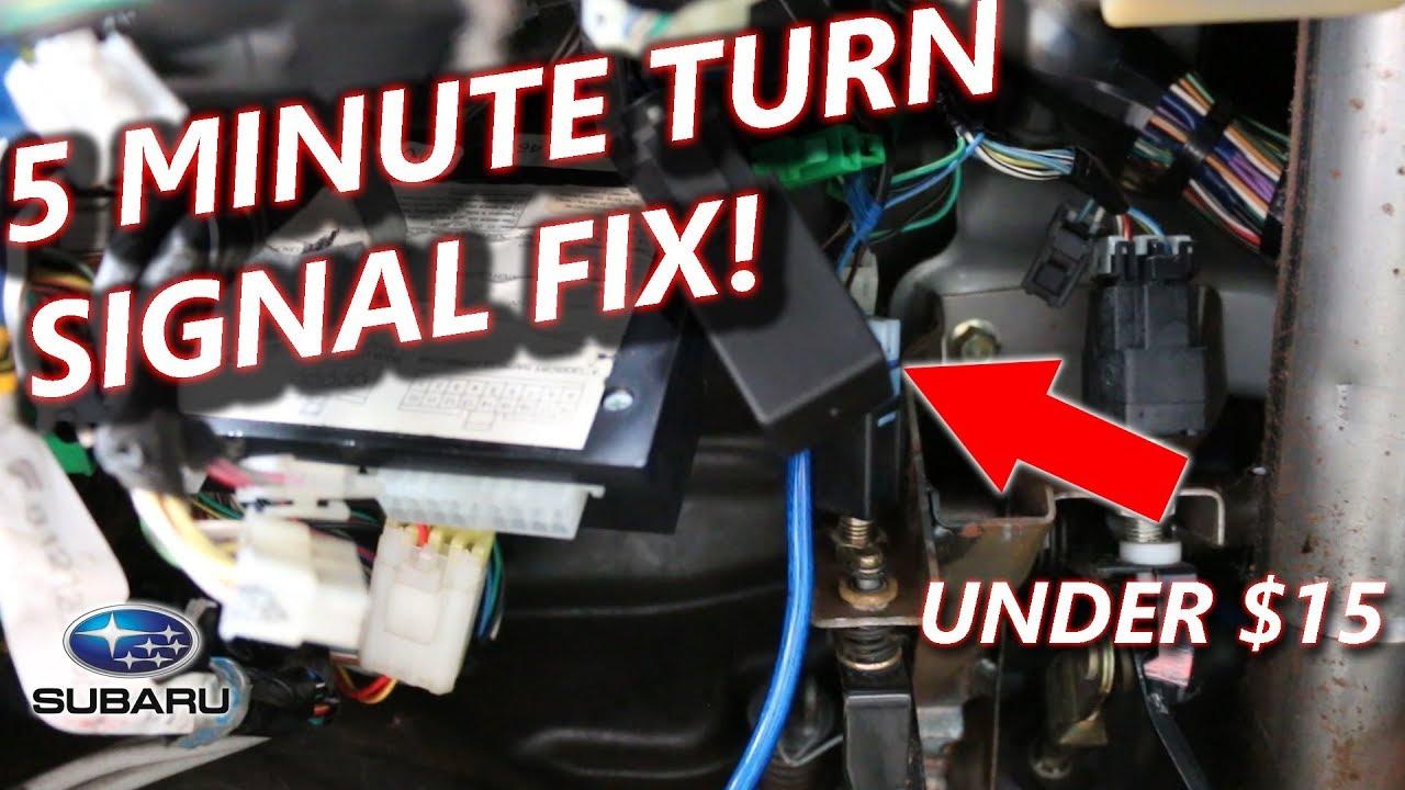 Subaru Indicator Flasher Relay Diy Youtube