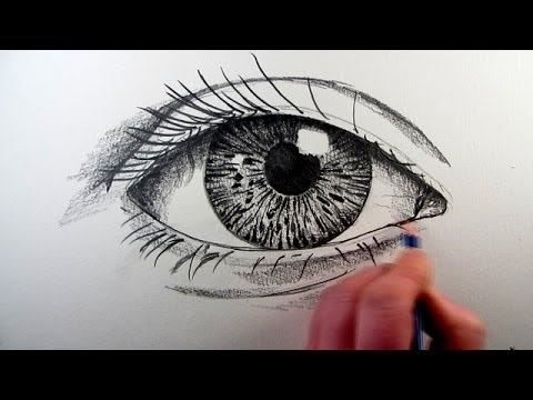 How to draw a realistic eye narrated step by step