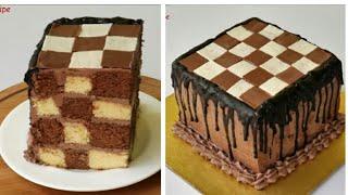 চেজবোর্ড কেক/চুলায় তৈরি দাবাঘর কেক/কেক রেসিপি/CHESS BOARD CAKE/Cake Recipe by Farjana