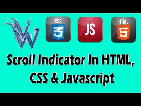 Scroll Indicator Wordpress   CSS Scroll Down Animation   Scroll Activated Animation HTML CSS JQUERY