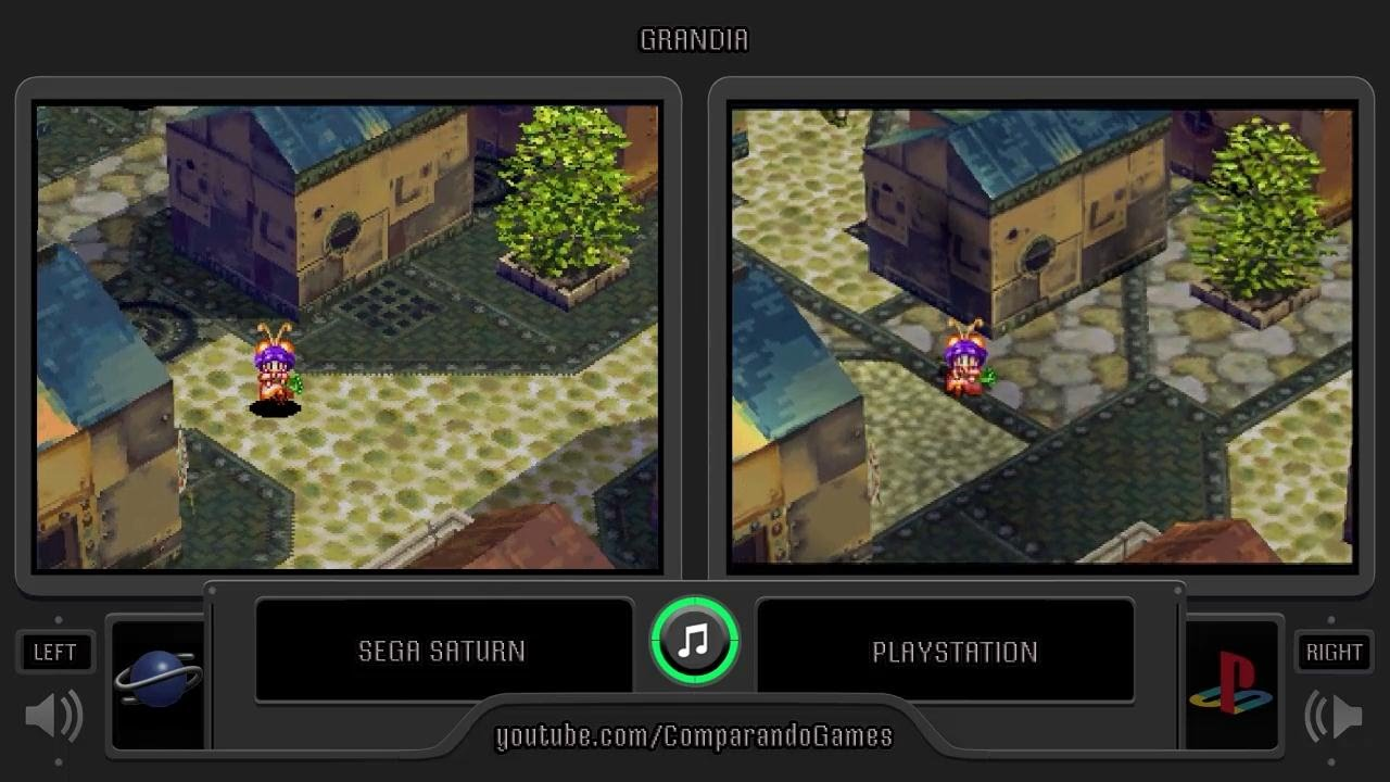Grandia Sega Saturn Vs Playstation Side By Side