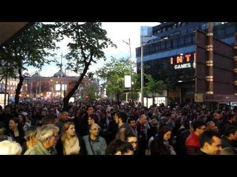 Massive protest in Belgrade against Prime minister/President elected Aleksandar Vucic