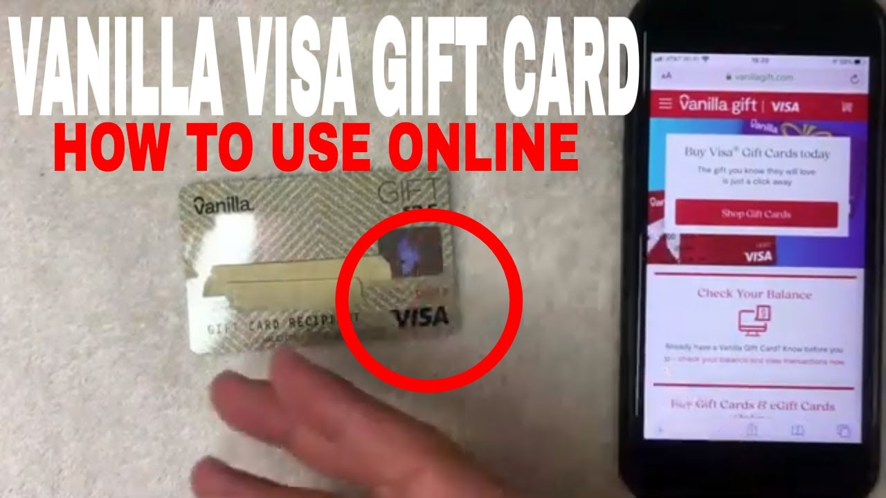 ✅ How To Use Vanilla Visa Gift Card Online 🔴
