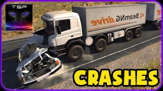 BeamNG drive - 8x8 HEAVY TRUCK Crashes & Accidents