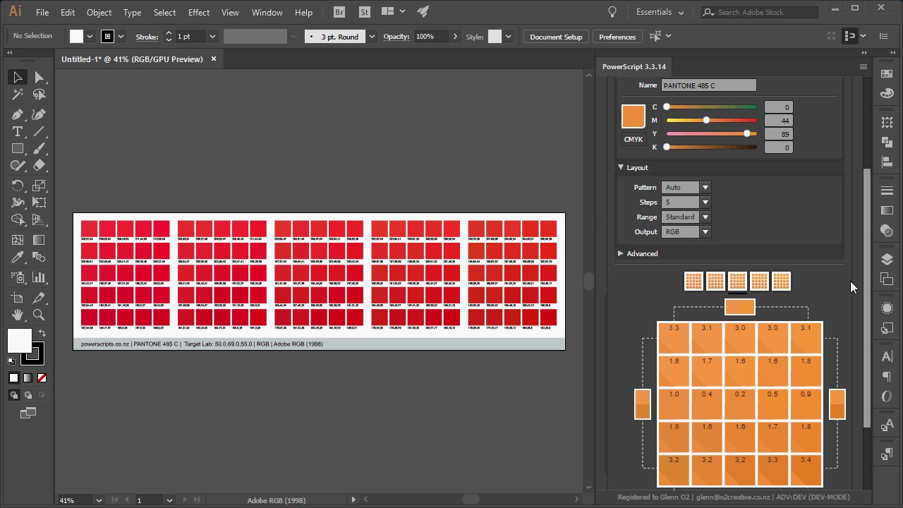 Color Shotgun ~ Color Matching PowerScript for Adobe Illustrator