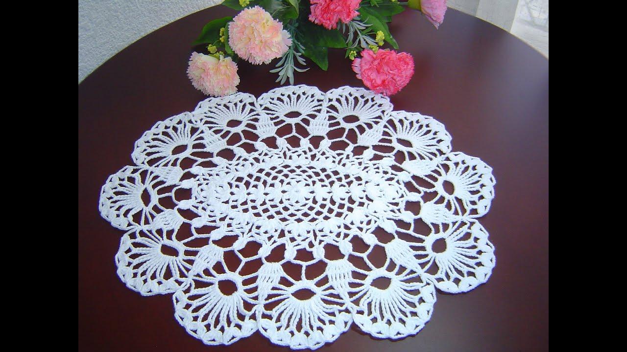 Como tejer carpeta o centro de mesa a crochet paso a paso for Centro de mesa a crochet