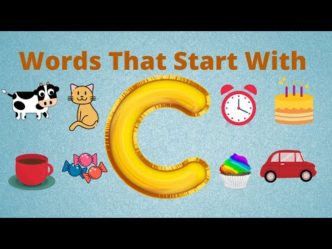 Words That Start with C | Kids Learning Videos | Things That Start with Letter C for Toddlers