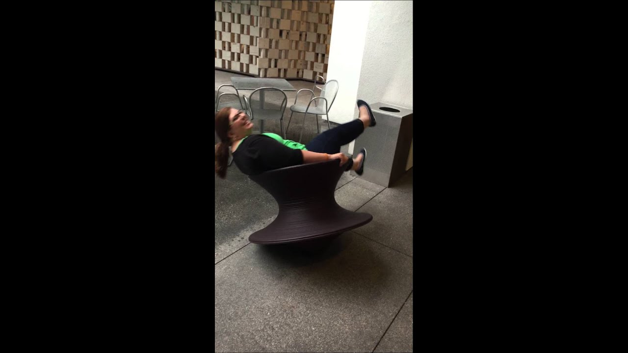 Spinny chairs at the Hammer museum. - YouTube