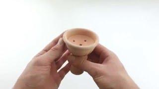 Чаша для кальяна глиняная