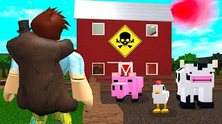 I Found A BLOXBURG FARM.. They Were Poisoning Food! (Roblox)