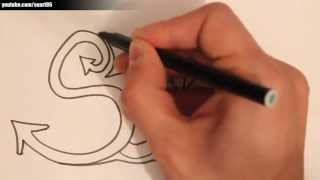 How to draw the name Sarah