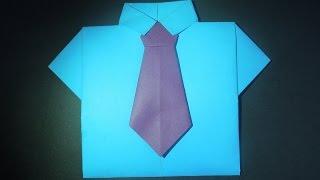 видео как сделать галстук из бумаги