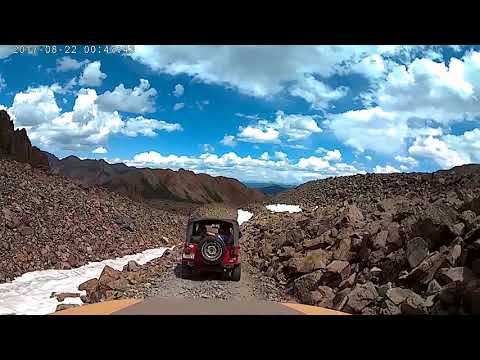 Top of Pearl Pass Colorado  going down to Aspen 8-20-2017