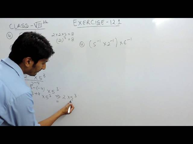 Exercise 12.1 - Question 4 (i,ii) NCERT Solutions for Class 8th Maths Exponents and Powers
