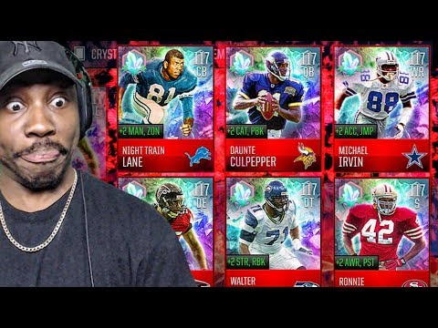 INSANE 117 OVR CRYSTAL LEGENDS IN EASTER PACK OPENING! Madden Mobile 18 Gameplay Ep. 42