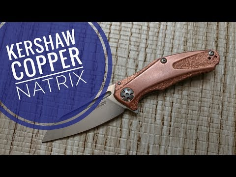 Kershaw (7006CU) Copper Natrix Revisted with Modifications   D2 Blade Steel