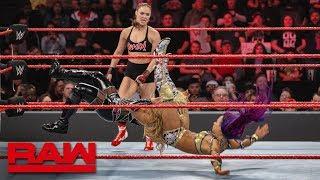 Ronda Rousey & Natalya vs. Sasha Banks & Bayley: Raw, Jan. 21, 2019