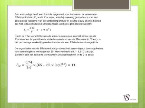 Examentraining Wiskunde A HAVO Blok 3: Werken met Formules