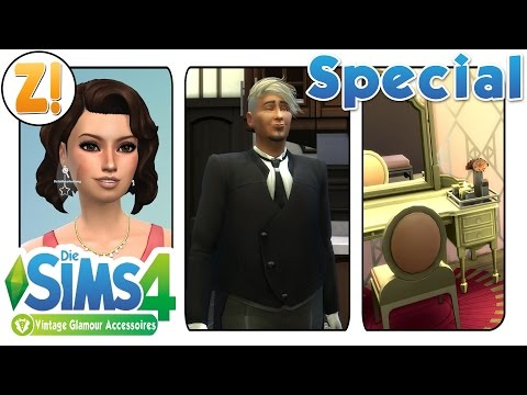 Sims 4 Vintage-Glamour-Accessoires : Neues im CAS + Möbel + Gameplay *SPECIAL* | Let's Play