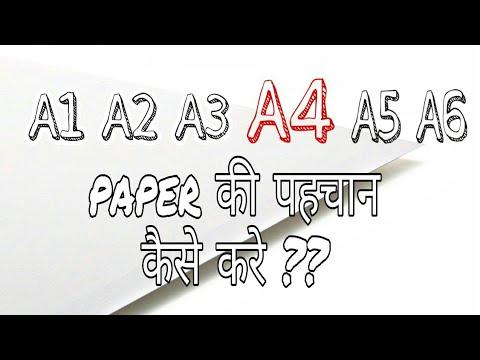 'A' series paper size Explained| A0,A1,A2,A3,A4,A5,A6 #A4 paper