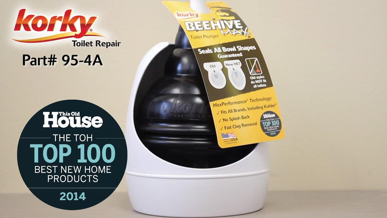korky beehive max toilet plunger and holder youtube. Black Bedroom Furniture Sets. Home Design Ideas