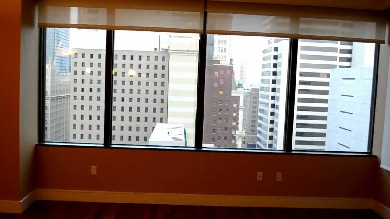 Dual motorized roller shades from budget blinds park for Budget blinds motorized shades