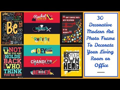 30 Decorative Modern Art Photo Frame & Wall Poster To Decorate Your Living Room or Office