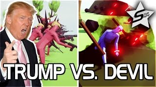 """TRUMP VS DEVIL!! - """"ASSAULT ON HELL!"""" - Totally Accurate Battle Simulator - TABS Gameplay"""