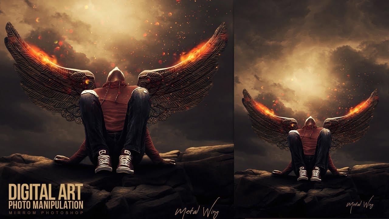Digital Art Photoshop Manipulation Tutorial Metal Wing