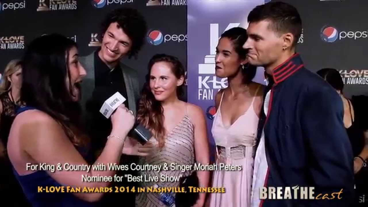 For King Amp Country With Moriah Peters At K Love Fan Awards