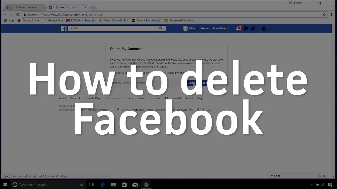 How to delete or disable your Facebook account