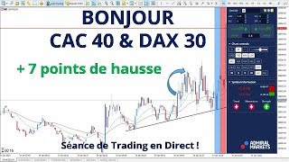 #DAX30 CFD - Séance de Trading en Direct - Bonjour CAC40 & DAX30 le 14/01