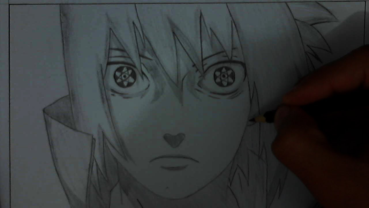 Tutorial How To Draw Sasuke Uchiha Mangekyou Sharingan Remake