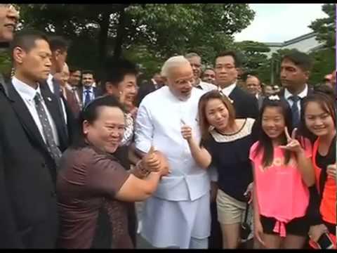 PM Modi at the Kinkaku-ji Temple in Kyoto