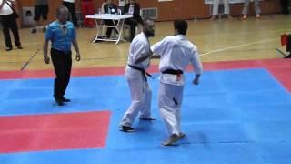 2014 kyokushin türkiye şampiyonası ordu fatih mert gül  ile final maçımız