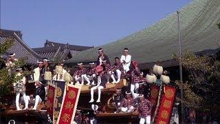神社ではなく、お寺・久米田寺の境内にだんじりがお参りする。奈良時代...