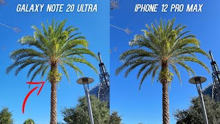 iPhone 12 Pro Max vs Galaxy Note 20 Ultra Camera Test Comparison After Updates (2021)