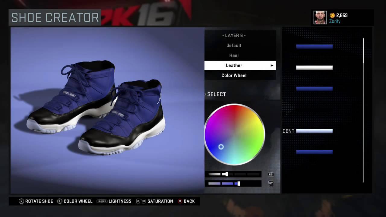 17d56f04b73 NBA 2K16 Shoe Creator - Air Jordan 11 Custom