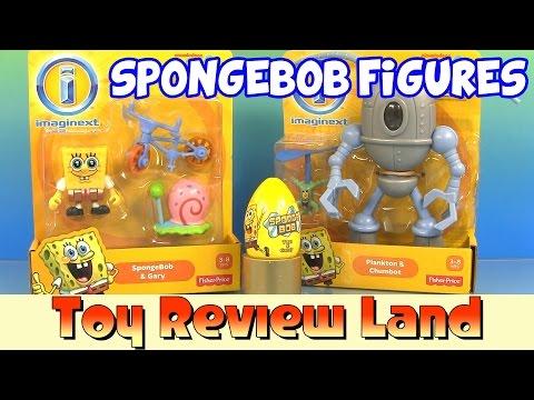 Imaginext SpongeBob Squarepants & Gary, Plankton & Chumbot