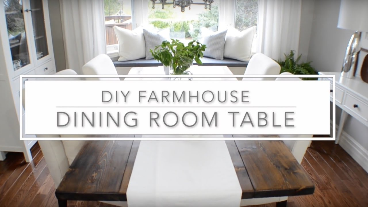 DIY Farmhouse Dining Table Plans - The Home Depot - YouTube