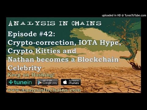 Crypto-correction, IOTA Hype, Crypto Kitties, and Nathan becoming a Blockchain Celebrity
