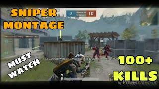 Sniper Montage 100+ kills in TDM Match PUBG MOBILE Game play