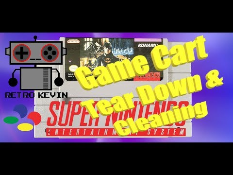 SNES game cartridge tear down and cleaning