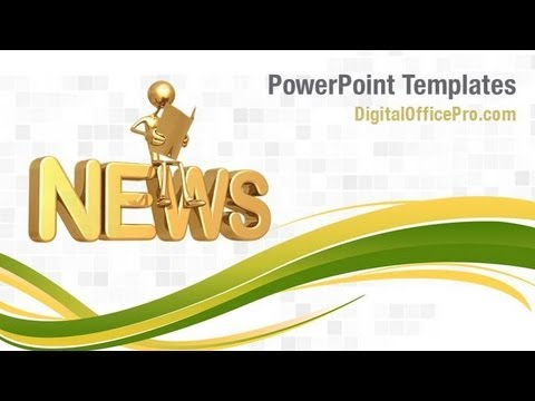 News Powerpoint Template Backgrounds Digitalofficepro 08902w