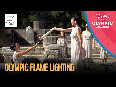 ? Olympic Flame Lighting Ceremony for PyeongChang 2018