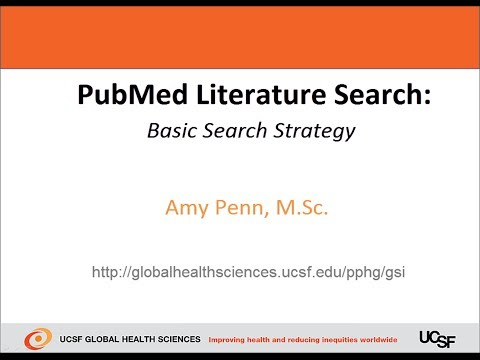 PubMed Literature Search - Basic Search Strategy
