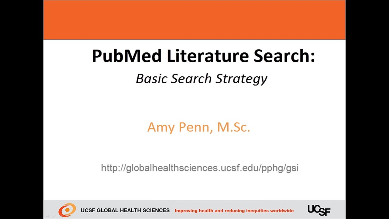 Conducting a literature search using PubMed.