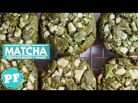 Cookie de MATCHA e CHOCOLATE BRANCO (VEGANO) | PratoFundo